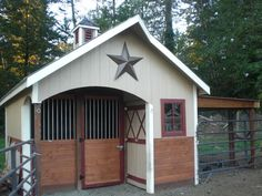 Meadow barn, barn kit, pasture barn kits - One stall barn with tack room/storage