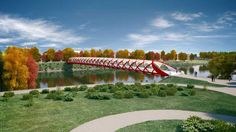 Peace Bridge, Calgary : Santiago Calatrava Design