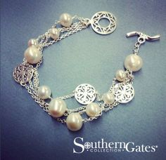 Sterling and Freshwater Pearl Bracelet by Southern Gates. Perfect for so many occasions.