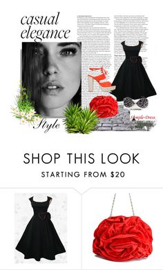 """""""Simpledress20"""" by gold-phoenix ❤ liked on Polyvore featuring ASOS and vintage"""