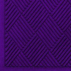 "Andersen 221 Purple Polypropylene WaterHog Fashion Diamond Entrance Mat, 6' Length x 4' Width, For Indoor/Outdoor by Andersen. $89.08. No other mat in the industry traps water and dirt so effectively. WaterHog mats are constructed of rubber reinforced face nubs and the ""diamond"" design provides crush proof scraping action. The border for WaterHog Fashion features the same 100 percent polypropylene fiber system as the mat surface. Premium 24 oz/sq anti-static Polypro..."