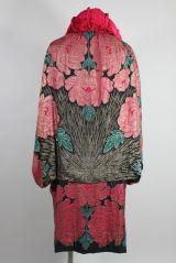 1920's Art Deco Metallic Lamé Rose Coat at 1stdibs