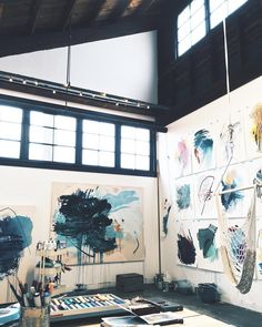 My studio space art, art studios, dream art. Atelier Photo, Atelier D Art, Art Studio Design, Studio Art, Studio Room, Paint Studio, Loft Design, Studio Ideas, Bar Design