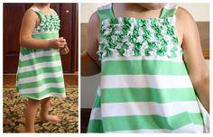 Ruffle T-Shirt Dress | So You Think You're Crafty