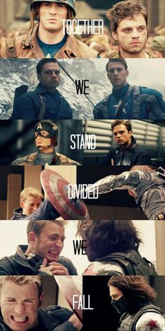 Together we stand, United we fall. #marvel
