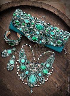 """Buy handbag-clutch """"Esmeralda"""" (2 versions) - sea wave, ornament, clutch bag handmade"""