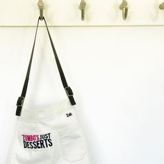"Contestant Zak's apron, all ready for Season 2 of Zumbo's Just Desserts🍭Contestants on Season 2 of Zumbo's Just Desserts wear Cargo Crew ""Otto"" Aprons Gwyneth Paltrow, Bib Apron, Aprons, Zumbo's Just Desserts, Name Embroidery, Embroidery Services, Season 2, Unisex, Apron"