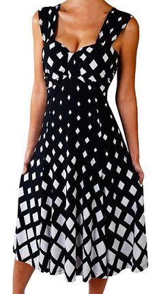 10327943055 Funfash Plus Size Women Diamond White Black Slimming Cocktail Dress Made in  USA - FunFash