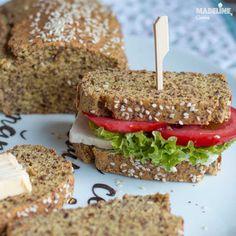 Paine keto cu seminte de in / Keto flaxseed bread - Madeline. Flaxseed Bread, Mai, Sandwiches, Food, Essen, Meals, Paninis, Yemek, Eten