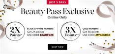Sephora: Beauty Pass Exclusive 3 Days Only - Beauty & Cosmetic (Cosmetic, Makeup & Perfume) sale in Malaysia Perfume Sale, Sale Banner, Sephora, Shop Now, Fragrance, Skin Care, Cosmetics, Day, Makeup