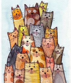 cats cats and kittens cats funny cats cute cats illustration cats aesthetic cats wallpaper cats breeds cat memes cats cat tattoo cat drawing cat art cat wallpaper cats and kittens cat eye nails Watercolor Animals, Watercolor Paintings, Watercolour, Dibujos Zentangle Art, Watercolor Beginner, Illustration Art, Illustrations, Cat Quilt, Cat Wallpaper