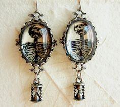 Memento Mori Earrings by PersephonePlus on Etsy
