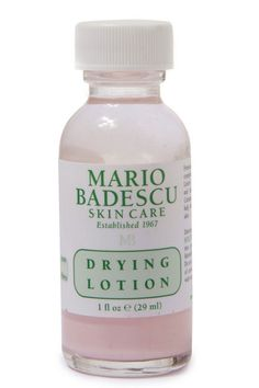 This Drying Lotion from Mario Bordescu is a fast acting effective acne spot treatment. Mario, Acne Spot Treatment, Best Face Products, Beauty Products, Best Budget, Lotion, Skin Care, Face Care