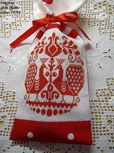 életfás-madaras hímzés - Hungarian embroidery with birds and tree of life