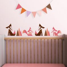 New Foxes nursery wall decal by Trendy Peas. Only $39.