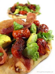I couldn't resist blistering the tomatoes and adding chopped avocado to this BLT flatbread. The results were phenomenal. Dinner Rolls Recipe, Dinner Recipes, Tapas, Best Bread Recipe, Bread Recipes, Best Comfort Food, Comfort Foods, Cooking Recipes, Healthy Recipes