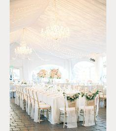 What a fairytale like setting. #whiteweddings
