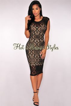 Black Optical Net Nude Illusion Padded Dress Womens clothing clothes hot miami styles hotmiamistyles hotmiamistyles.com sexy club wear evening  clubwear cocktail party kim kardashian dresses