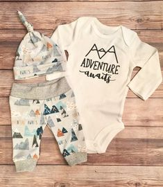 6e84ce468 Adventure Awaits Newborn Boy Coming Home Outfit, Newborn Outfit, Baby Boy  Outfit, Boy Outfit, Going Home Outfit