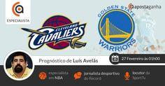 Prognóstico e Apostas para Cavaliers vs Warriors – NBA – 27 Fevereiro às 01h00 -  Prognóstico mais do que especial do nosso especialista Luis Avelãs para a noite de NBA, confiram:  http://www.apostaganha.pt/2015/02/26/cavaliers-vs-warriors-nba-prognosticos-apostas/  #apostasdesportivas #apostasonline #nba #cavaliers #warriors #basket #desporto #sportsbets
