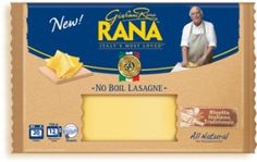 These Rana fresh pasta sheets were really a step up from dry lasagna noodles~ Oven-ready Lasagne Sheets (: