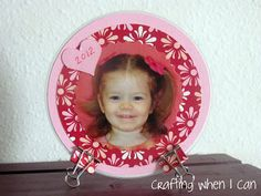 Crafting When I Can: Upcycled CD Photo Craft