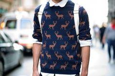 Deer Pattern Sweater