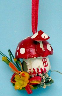 Christmas Ornaments Paper and Spun Glass Paper Ornaments