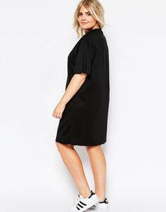 ASOS CURVE Light Sweat Dress with Angel Sleeve