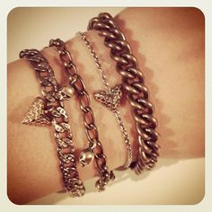 Chain bronze & silver Bracelts