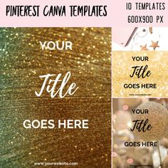 Pinterest Graphics Canva Templates – Glitter