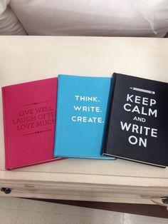 Inspirational journals. @Marshalls #fabfound