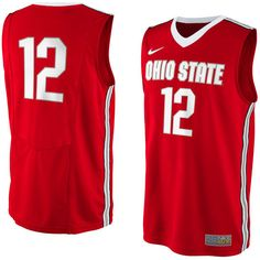 Ohio State Buckeyes No. 12 Replica Master Jersey - Red