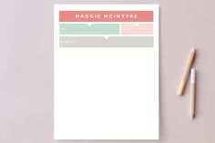 Chic Memo Personalized Stationery by Kimberly FitzSimons at minted.com
