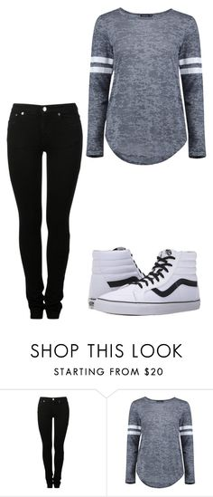 """""""Sin título #177"""" by accp06 ❤ liked on Polyvore featuring MM6 Maison Margiela, Boohoo and Vans"""