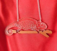 hello DODO X Designosaur - George the Chameleon, the necklace that goes with EVERYTHING!
