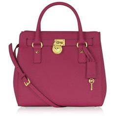 LOOOVE this bag! Great color! Michael Kors Hamilton Medium Saffiano Leather North/Shouth Satchel Tote ($398) found on Polyvore by reva