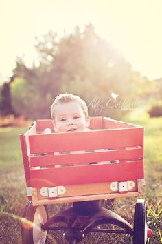 <3 I wanted to use a wagon for Nate's 6 month pics