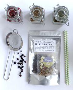 DIY Lavender & Apple Gin Botanicals Kit - Making gin at home, just add vodka! Homemade birthday Christmas Xmas secret santa present gift
