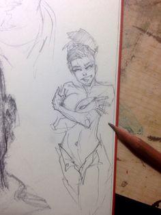 Graphite Pinup sketch