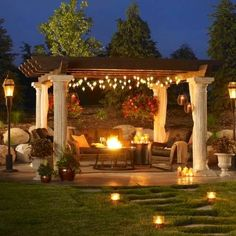 Outdoor GreatRoom Tuscan Gas Fire Pit Table   Propane Fire Pits At  Hayneedle. Luv The Tuscan Portico. Lights Like In Photo. Luv The Firepit In  Middle!