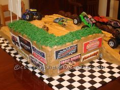 Coolest Monster Truck Birthday Cake ... This website is the Pinterest of birthday cakes