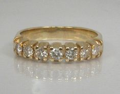 Vintage 14K Diamond Wedding Band  0.52 Carats Diamond Total Weight - Appraisal Included - by lonestarestates $850.00