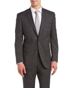 Peter Millar PETER MILLAR TIC WEAVE SUIT WITH FLAT FRONT PANT'. #petermillar #cloth #suits