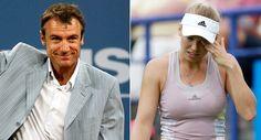 Mats Wilander (tv.) vurderer, at Caroline Wozniacki har gode muligheder for at…