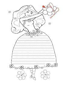 Fise de lucru - gradinita: Fisa cu Grafisme cu Zana Primavara - Decorati rochita Zanei Primavara Jar, Female, Blog, Insects, Blogging, Jars, Glass