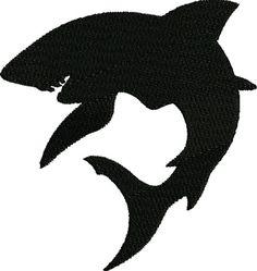 sale 50 cents off embroidery design silhouette Shark Silhouette, Animal Silhouette, Silhouette Art, Alphonse Mucha, Shark Logo, Shark Art, Shark Tattoos, Crayon Art, Great White Shark