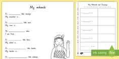 Write a Māori Mihi - Printable Mihi Template English Translation, Activity Sheets, Cover Pages, My Teacher, Primary School, Teaching Resources, Curriculum, Worksheets, Children