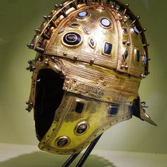 In the small village of Berkasovo, in the Serbian Province of Vojvodina, a hoard of treasure was found which included this Roman helmet. This ridge helmet which dates from the early part of the 4th century AD, is made of iron and glided with silver and decorated with the glass gems. I saw this treasure on display at Rome's Colosseum but it's permanent home is the Museum of Vojvodina, in the town of Novi Sad.