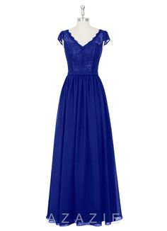 b8dc15cf19e AZAZIE BRISA. The graceful floor-length bridesmaid dress by Azazie has an A-